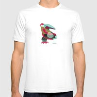 Bird Mens Fitted Tee White SMALL