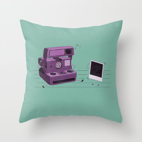 Shake It Like A Polaroid Picture Throw Pillow