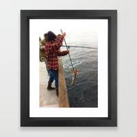 Gaffin' Framed Art Print