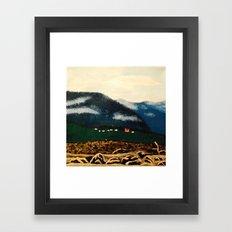 Church and Lava Framed Art Print