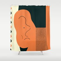 Angry Talking Makes The … Shower Curtain