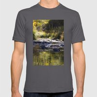 Creekside View Mens Fitted Tee Asphalt SMALL