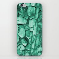 Flakey - Teal iPhone & iPod Skin