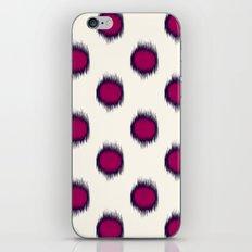 Ikat Dots Raspberry Plum iPhone & iPod Skin