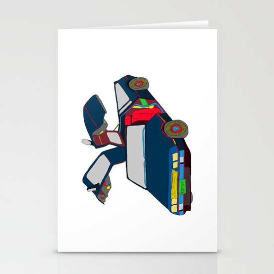 Cool Boys Like Flying Cars Stationery Card