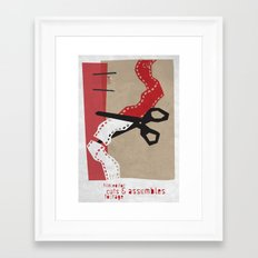 Editor Framed Art Print