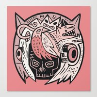 Bubble Head - pink Canvas Print