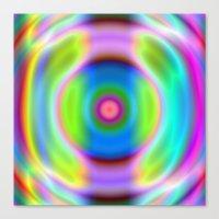 Rainbow Reactive Canvas Print