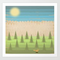 Art Print featuring The Fox In The Woods by Tammy Kushnir