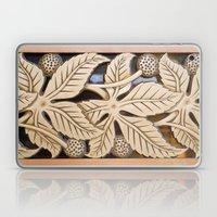 Bronze Art Deco Leaves Laptop & iPad Skin