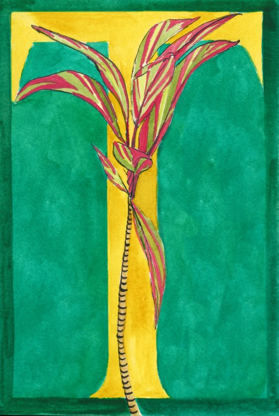 T is for Ti Plant Art Print