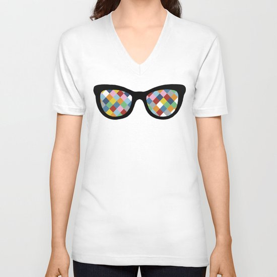 Diamond Eyes V-neck T-shirt