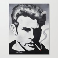 James Dean Black and White Forever YOUNG Canvas Print