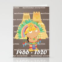 Moctezuma Xocoyotzin Stationery Cards
