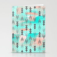 Watercolor Arrows Stationery Cards
