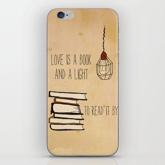 Love Is A Book iPhone & iPod Skin