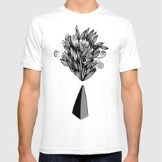 Flower Stone landscape SMALL Mens Fitted Tee White