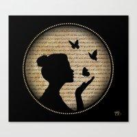 Bisou Papillon Canvas Print