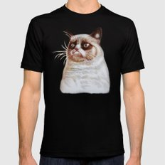 Grumpycat SMALL Mens Fitted Tee Black