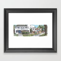 First Street, Davis Framed Art Print