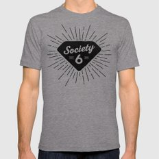 Black Diamond Mens Fitted Tee Tri-Grey SMALL