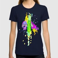 Smaller Gods Womens Fitted Tee Navy SMALL