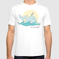 You Are Loved From The Deep Blue Sea Mens Fitted Tee White SMALL