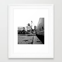 Framed Art Print featuring Aesthetic grit by Vorona Photography