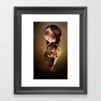Gold Cage Framed Art Print