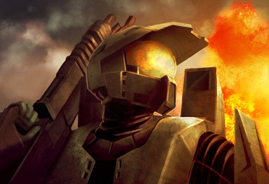 Epic Halo Spartan Canvas Print