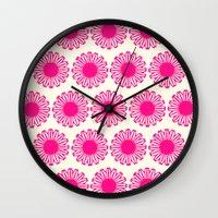 Vintage Flower_Pink Wall Clock