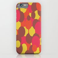 Autumn Retro Circles Design iPhone 6 Slim Case