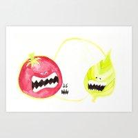 Attack Of The Killer Cap… Art Print