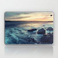 Sunset on the Breakwater Laptop & iPad Skin