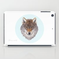 Grey wolf portrait iPad Case