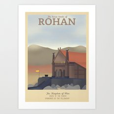 Retro Travel Poster Series - The Lord of the Rings - Rohan Art Print