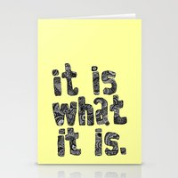 What It Is Stationery Cards