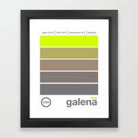 galena//single hop Framed Art Print