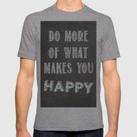 Quote, Inspiration Chalk… Mens Fitted Tee Athletic Grey SMALL