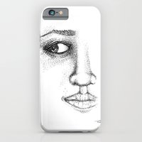 Fine Liner Stippling Girl 1 iPhone 6 Slim Case