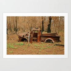 Lost Truck Art Print