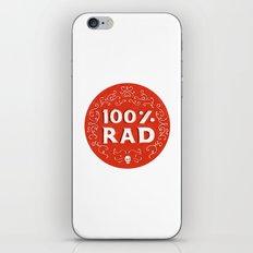 100% Rad iPhone & iPod Skin