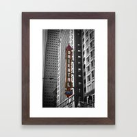 Oriental Theatre Black and White Chicago Photography Framed Art Print