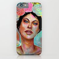iPhone & iPod Case featuring Flower Rainbow Girl in Mixed Media by SL Scheibe
