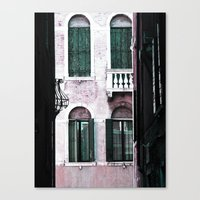 Green Shutters Canvas Print