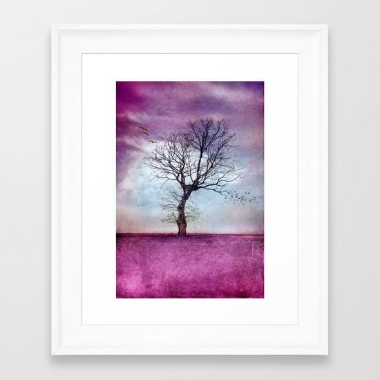 ATMOSPHERIC TREE | Pink Morning Framed Art Print