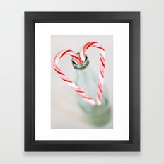 candy canes Framed Art Print