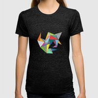 Abstract Triangles Womens Fitted Tee Tri-Black SMALL