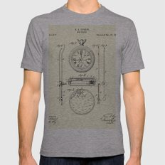 Stop Watch-1889 Mens Fitted Tee Athletic Grey SMALL