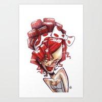 Ri-xaggeration  Art Print